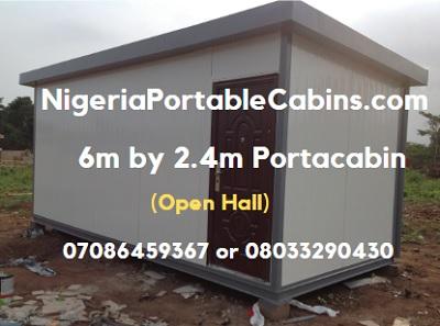 6m By 2.4m Portable Cabin Nigeria