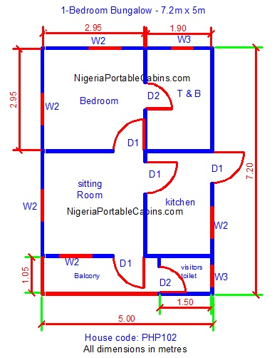 Bungalow floor plans nigeria free bungalow house plans for Free house plans and designs with cost to build
