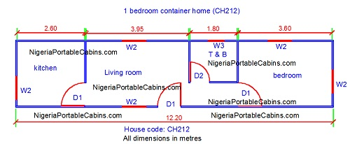 The Building Layout Plans Below Ch212 Ch214 Shows The Two Container Home Building Plan Scenario Mentioned Above And How Much Space Is Available For The