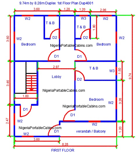 Duplex House Plans Nigeria - Free Duplex Floor Plans. Free Download.