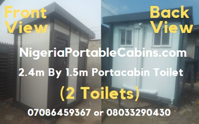 2.4m by 1.5m Portacabin Toilet Nigeria (2 in 1 Toilet)
