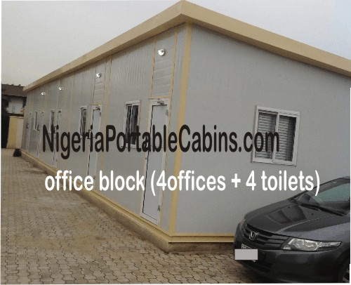 20m by 4m Portable Cabin Office Building Nigeria