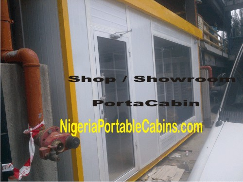 5.5m By 3.6m Portable Cabin Nigeria (front View)