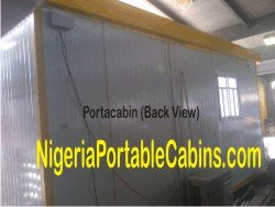 5.5m By 3.6m Portable Cabin Nigeria (Back View)